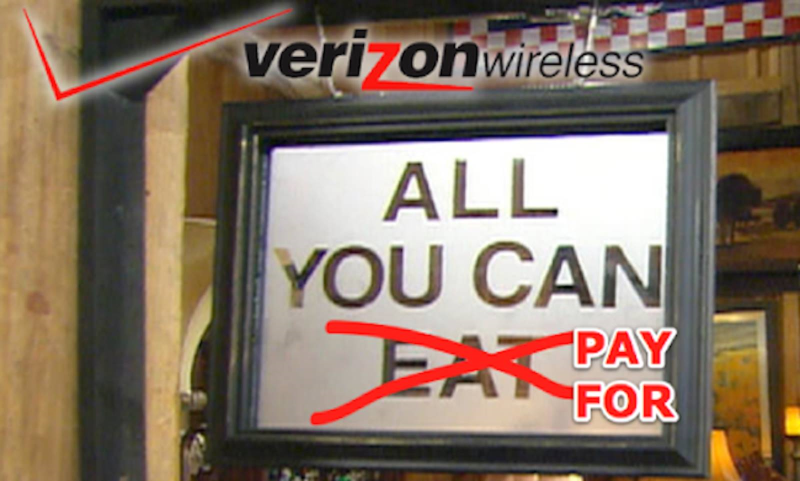 Verizon Pushes Users off Unlimited Data Plans